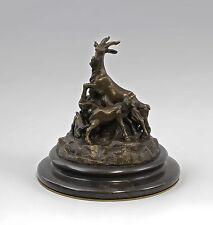 37938 Bronze Ziegengruppe nach Bistolfi Ziege Bock