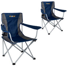 2 x OZTRAIL SOVEREIGN Folding Camping Picnic Arm Chair