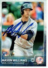 Mason Williams New York Yankees 2015 Topps Update Signed Card
