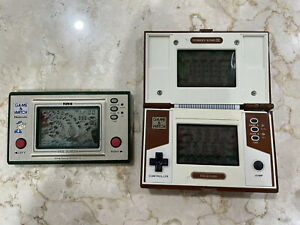 2X Nintendo Game And Watch. Wide Screen Pipeye. Dual Screen DK2