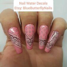 1173 - Pink Paisley Bandana Bandanna Nail Water Decals