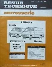 RENAULT TRAFIC MASTER essence diesel Revue technique CARROSSERIE RTA 77 de 1982