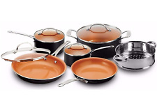 Gotham Steel Pots and Pans 10 Piece Cookware Set with Nonstick Ceramic