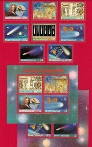 ZAYIX - 1986 Montserrat 605-614 MNH set + souvenir sheets (2) - Halley's Comet