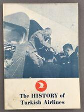 TURKISH AIRLINES HISTORY BROCHURE 1976 TURK HAVA YOLLARI THY