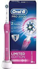 2 oral B Pro 2000 3D Edición Limitada Rosa > < Braun Cepillo de dientes eléctrico