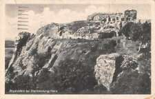 Blankenburg Germany birds eye view Regenstein Castle antique pc Z42466