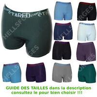 1 à 24 Boxer Homme Uni Microfibre M L XL XXL Lot Pack 3/6/12/24 boxershorts men