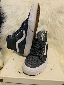 Vans off the wall 721277 Men Size 8 WMNS 9.5 High Top Shoes GLITTERY CHARCOAL/GY
