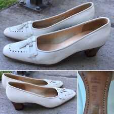Tanino Crisci Ladies Shoes Heels  White Leather Tassels Made In Italy 35 1/2 M