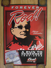 Beer Poster Budweiser ~ Nascar Race Driver Kenny Bernstein Memorial Forever Red