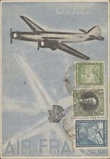 CHILE AVIATION AIR FRANCE 1937 AÑO NUEVO