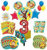 Curious George Party Supplies 8 Guest Kit 3rd Birthday Balloon Bouquet Decoratio