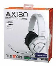 Tritton Ax180 Universal Gaming Headset Headphones White PC Ps3 Xbox 360 Wii