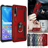 Hybrid Shockproof Magnetic Ring Armor Holder Stand Case Cover For Huawei Y9s