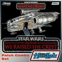 "COMBO STAR WARS The Mandalorian ""We Raised the Crest""-HasLab Razor Crest patches"
