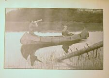 1898 ELK HUNT & CALL FROM A CANOE ORIGINAL FREDRIC REMINGTON WESTERN PRINT