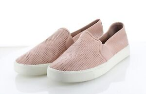 02-38 MSRP $195 Women Sz 8 M Vince Blair 5 Perforated Leather Sneaker - Rose