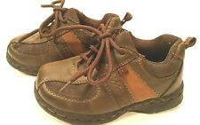 OshKosh Oxford Lace Up Brown Vegan Leather Casual Comfy Shoes Toddler Boys 7M