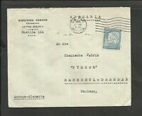 BOLIVIA TO GERMANY COVER 1935, W/MAP FRANKING, VF
