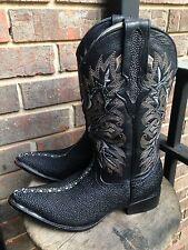 Women's Exotic Handmade El VaQuero Cuadra Stingray Western Boots Size 6.5.