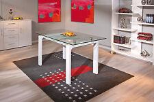 Table rectangulaire meuble cuisine salon salle a manger design verre BLANC