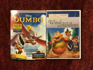 Two Disney Movies : Dumbo 70th Anniversary Edition + Wind in the Willows