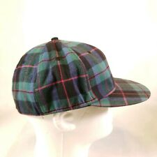 Vtg Enjoi Panda Green Red Plaid Hat Cap Fitted Large XL Y9