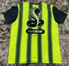 Nike Air Max Am Crew Soccer Jersey Big Logo Shirt Black Yellow Mens Xxl Striped