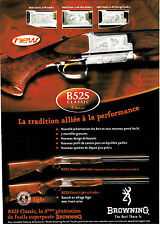 Advertising / Publicité de presse /  FUSIL  BROWNING  B525 .  2003