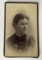 CDV Photo Little Falls NY Abbott Garvin Lovely Lady New York Antique Photograph