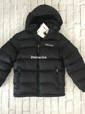 MARMOT Boys Youth OURAY Hoody Jacket Ski Coat DOWN PUFFER Black M 8 10