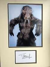 TIM DRY - STAR WARS ACTOR  - SUPERB SIGNED COLOUR PHOTO DISPLAY
