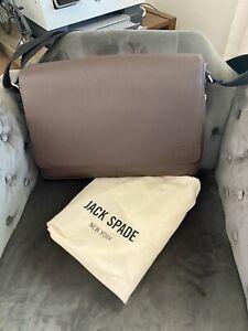 NWT Jack Spade Barrow Mahogany Brown Messenger Bag NYRU2522