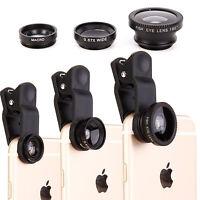 3 en 1 Ojo de Pez + Gran Angular + Macro Cámara con Clip Óptica para Iphone 6/