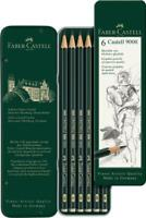 Faber-Castell 9000 Art Set Graphite Pencils in Tin (6pk)