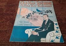 Old man Sunshine Little Boy Blue Bird Dixon and Warren 1928 sheet music EX