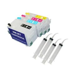 Empty Refillable Ink Cartridge Auto Reset 252 XL T2524 7210 WF 7710 7720 3640