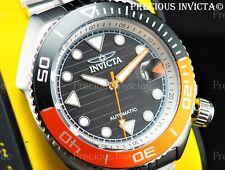 ➤Invicta Men 47mm Pro Diver Sea Wolf Automatic Orange/Black Dial Silver Ss Watch