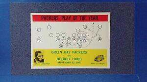 1964 Philadelphia #84 Green Bay Packers Play COACH VINCE LOMBARDI NRMT ~GT05