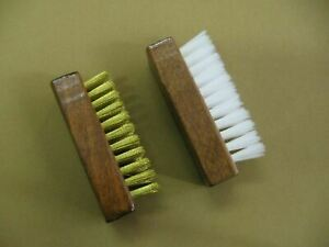 Suede Cleaning Brush Brass or Nylon   FREE SHIPPING