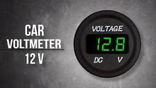 Voltage Meter Battery Gauge Green LED for Car Boat