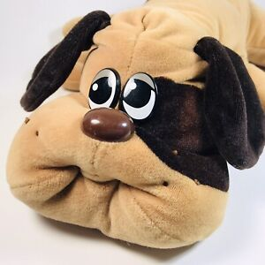 Vintage Tonka Pound Puppy Puppies Tan Brown Spots Large 1985
