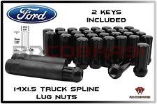 7 Spline Black Lug Nuts 20PC+2Keys Solid Steel fit 2015+ Ford Mustang GT Shelby