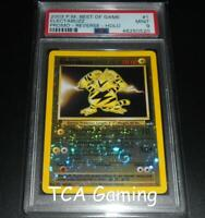 PSA 9 MINT Electabuzz # 1 BEST Of Game REVERSE HOLO Pokemon Card