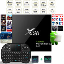 2G 16G X96 Android 6.0 TV Box Amlogic S905X Quad Core H.265 16.1 + Keyboard CAN