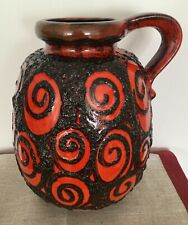West German Pottery midcentury Vase Scheurich Form 484-30 rot red hand painted