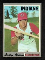 1970 Topps #391 Larry Brown Cleveland Indians Baseball Card EX/MT