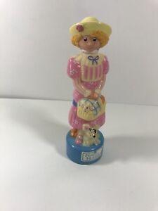 "Vintage HOLLY HOBBIE #0901 Figurine 10"" Tall Plastic Pink Blue"