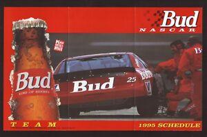 Winston Cup--Ken Schrader--1995 NASCAR Schedule--Budweiser